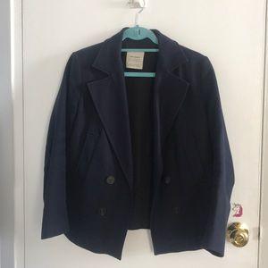 ZARA women's blazer coat navy blue (medium)